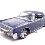 1961 Lincoln Continental Dark Blue 1/18 Diecast Car Model by Road Signature
