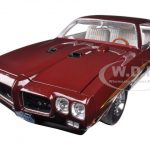 1970 Pontiac GTO Judge Burgundy Poly Limited to 996pc 1/18 Diecast Car Model by Acme