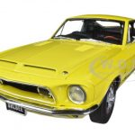 1968 Ford Shelby Mustang GT350 Yellow WT 6066 Release #2 1/18 Diecast Car Model by Acme