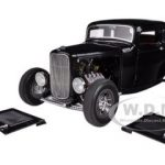 1932 Ford 5 Five Window Coupe Black Limited to 1050pc 1/18 Diecast Model Car by Acme