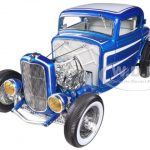 1932 Ford 3 Three Window Coupe Laser Blue Grand National Deuce Series Release #3 1/18 Limited to 1008pc by Acme