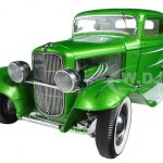 1932 Ford Grand National Deuce Series #6 Last in Series Synergy Green Metallic Limited Edition to 996pcs 1/18 Diecast Model Car by Acme