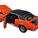 1968 Pontiac Firebird 400 Carnival Red with Vinyl Top Limited Edition 1/18 Diecast Model Car by Acme