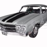 1970 Chevrolet Chevelle SS 396 Cortez Silver Limited to 786pc 1/18 Diecast Car Model by Acme