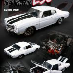 1970 Chevrolet Chevelle SS 454 LS6 Classic White with Black Stripes Limited Edition to 618pcs 1/18 Diecast Model Car by Acme