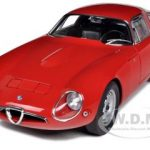 1963 Alfa Romeo Giulia TZ Red 1/18 Diecast Car Model by Autoart