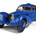1938 Bugatti 57SC Atlantic Blue With Spoke Wheels 1/18 Diecast Model Car by Autoart