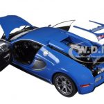 Bugatti EB Veyron LEdition Centenaire French Blue/Jean-Pierre Wimille 1/18 Diecast Model Car by Autoart