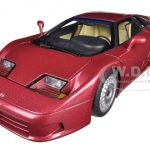 Bugatti EB110 GT Dark Red 1/18 Diecast Car Model by Autoart