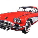 1958 Chevrolet Corvette Signet Red 1/18 Diecast Model Car by AutoArt