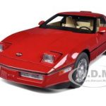 1986 Chevrolet Corvette Bright Red 1/18 Diecast Model Car by Autoart