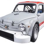 Fiat Abarth 1000 TCR Matt Grey with Red Stripes 1/18 Diecast Model Car by AutoArt