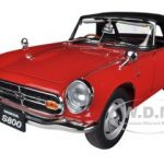 1966 Honda S800 Roadster Red 1/18 Diecast Car Model by Autoart