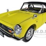 1966 Honda S800 Roadster Yellow 1/18 Diecast Car Model by Autoart