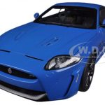 Jaguar XKR-S French Racing Blue 1/18 Diecast Car Model by Autoart