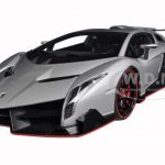 Lamborghini Veneno Geneva Show Car 2013 Grey 1/18 Diecast Model Car by Autoart