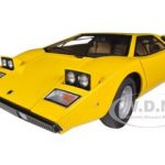 Lamborghini Countach LP400 Yellow 1/18 Diecast Car Model by Autoart