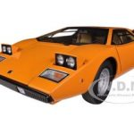 Lamborghini Countach LP400 Orange 1/18 Diecast Car Model by Autoart