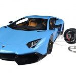 Lamborghini Aventador LP720-4 Blue Cepheus 50th Anniversary Edition with Keychain 1/18 by Autoart