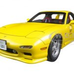 Mazda Efini RX-7 (FD3S) New Animation Film Initial D 1/18 Diecast Model Car by AutoArt