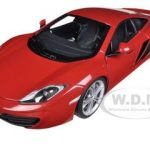 Mclaren MP4-12C Red 1/18 Diecast Car Model by Autoart