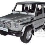 1998 Mercedes G500 G Class SWB Silver 1/18 Diecast Car Model by Autoart