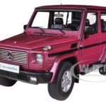 1998 Mercedes G500 G Class SWB Red 1/18 Diecast Model Car by Autoart