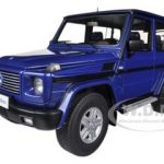 1998 Mercedes G500 G Class SWB Blue 1/18 Diecast Car Model by Autoart
