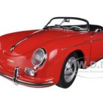 Porsche 356A Speedster European Version Red 1/18 Diecast Car Model by Autoart