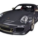 Porsche 911 (997) GT3 RS 3.8 Grey Black With White Gold Stripes 1/18 Diecast Car Model by Autoart