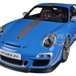 Porsche 911 (997) GT3 RS 4.0 Blue 1/18 Diecast Car Model by Autoart