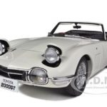 Toyota 2000 GT Upgraded Cabriolet White 1/18 Diecast Model Car by Autoart
