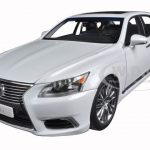 Lexus LS600hL White Pearl 1/18 Diecast Model Car by Autoart