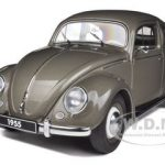 1955 Volkswagen Beetle Kafer Limousine Polaris Silver 1/18 Diecast Car Model by Autoart