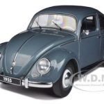 1955 Volkswagen Beetle Kafer Limousine Stratos Silver 1/18 Diecast Car Model by Autoart