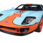 2004 Ford GT Gulf Livery #40 Blue with Orange 1/18 Diecast Model Car by Autoart
