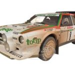 Lancia S4 Rally San Remo 1986 Cerrato/Cerri #8 Muddy Version 1/18 Diecast Model Car by Autoart