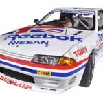 Nissan Skyline GT-R (R32) Group A 1990 Reebok #1 With Driver Figurine and Display Case Limited to 1000pc Worldwide 1/18 Diecast Model Car by Autoart