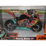 2011 KTM 1190 RC8R IDM Martin Bauer #45 Red Bull Motorcycle Model 1/12 by Automaxx