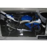Suzuki GSX-R1000 Blue/White Motorcycle Model 1/12 by Automaxx