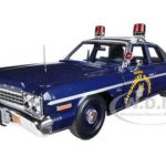 1975 Dodge Monaco Pursuit Nevada State Police Highway Patrol Limited to 2000pc Worldwide 1/18 Diecast Car Model by Autoworld