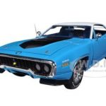1971 Plymouth Road Runner 440 6 Pack Petty Blue  Limited to 1500pc 1/18 Diecast Model Car by Autoworld