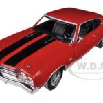 1970 Chevrolet Chevelle SS 396 Cranberry Red Top Gear Limited to 1500pc 1/18 Diecast Model Car by Autoworld