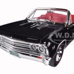 1967 Chevrolet Chevelle SS 396 L-78 Convertible Black 50th Anniversary Limited Edition 1002pc 1/18 Diecast Model Car by Autoworld