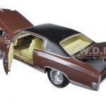 1971 Chevrolet Monte Carlo SS 454 Rosewood Metallic Limited Edition to 1002pcs 1/18 Diecast Model Car by Autoworld