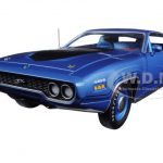 1971 Plymouth GTX Hardtop Blue Metallic Limited Edition to 1002pcs 1/18 Diecast Model Car by Autoworld