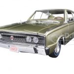 1966 Dodge Charger Hemi 426 Citron Gold Metallic 50th Anniversary Limited Edition to 1002pcs 1/18 Diecast Model Car by Autoworld