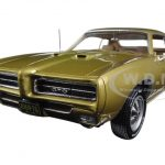 1969 Pontiac GTO Hardtop Antique Gold Hemmings Muscle Magazine Limited Edition to 1002pc 1/18 Diecast Model Car by Autoworld