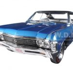 1967 Chevrolet Impala SS 427 Marina Blue with Black Vynyl Roof Limited Edition to 1002pcs 1/18 Diecast Model Car by Autoworld