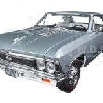 1966 Chevrolet Chevelle SS Silver/ Chateau Slate Limited Edition to 1002pc 1/18 Diecast Model Car by Autoworld